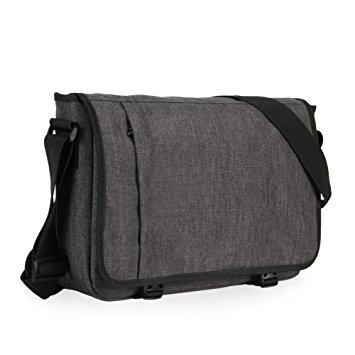 laptop messenger bags hynes eagle laptop messenger bag for 15-inch (dark grey) cfziqwv