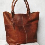 Leather handbag for men and women