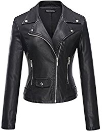 leather jackets women tanming womenu0027s faux leather moto biker short coat jacket wwqshny