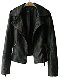 leather jackets women vangull women ladies zipper slim biker motorcycle pu leather jackets punk  rock coats rvospow