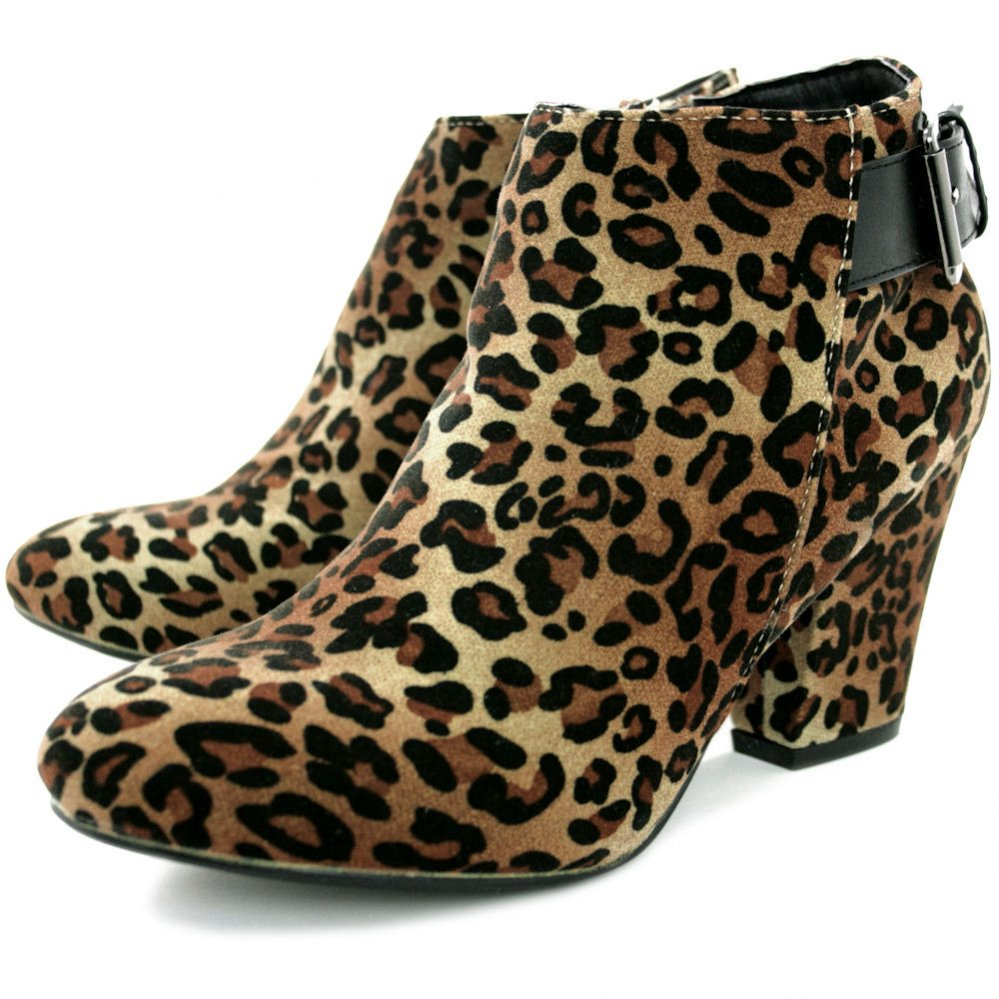 leopard boots leopard ankle boots iabefle