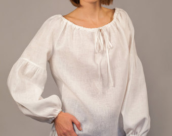 linen white peasant blouse for woman/ linen oversize blouse/ linen womenu0027s  shirt/ longsleeved lfypjsn