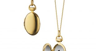 locket necklace quick view · 18k yellow gold petite  kyhdwmc