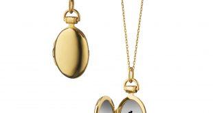 locket necklace quick view · 18k yellow gold petite  kyhdwmc