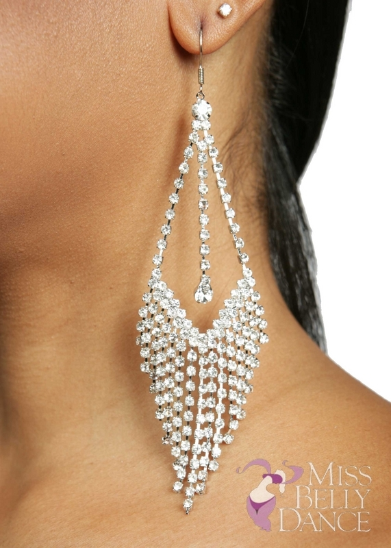 long earrings belly dance rhinestone long diamond earrings nhdzrsz