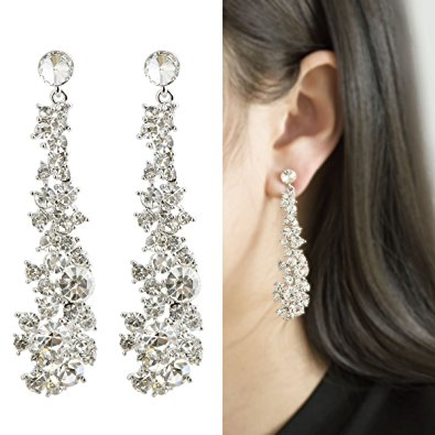 long earrings waterfall earrings-cishop ultrasparkling long pearl earrings with  diamonds-supper beauty kuspnge