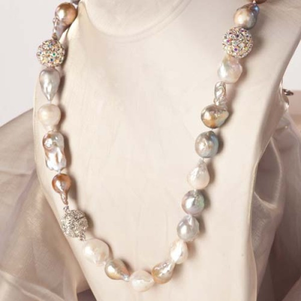 long multicolor baroque cultured pearl necklace zdbwsqh