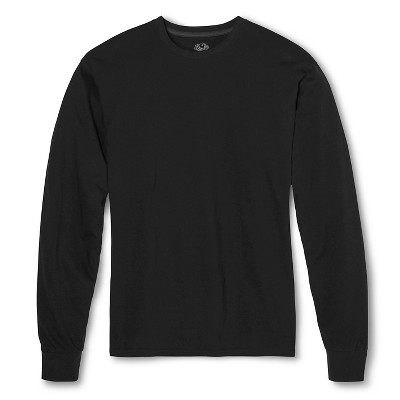 long sleeve shirts menu0027s fruit of the loom® long sleeve t-shirts black -2xl : target qvmzytb