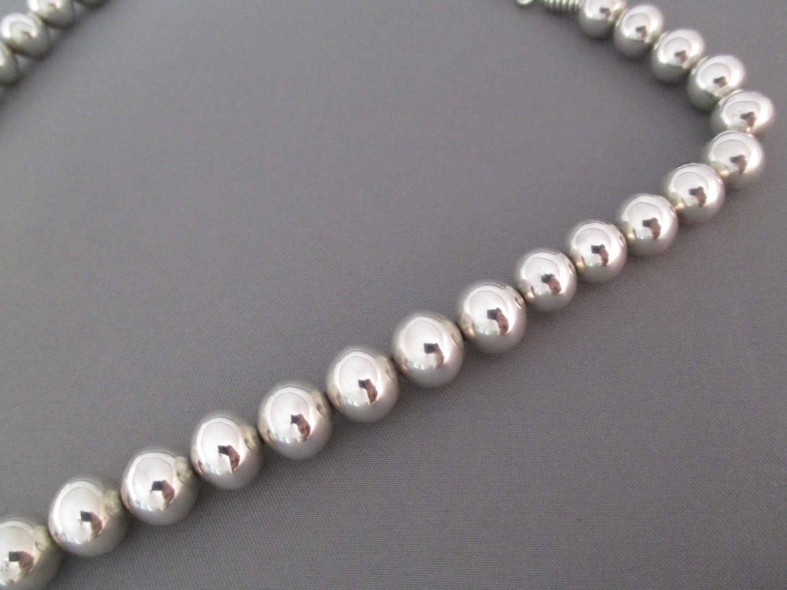 longer sterling silver bead necklace by navajo jewelry artists, gene u0026  martha jackson uftdyly