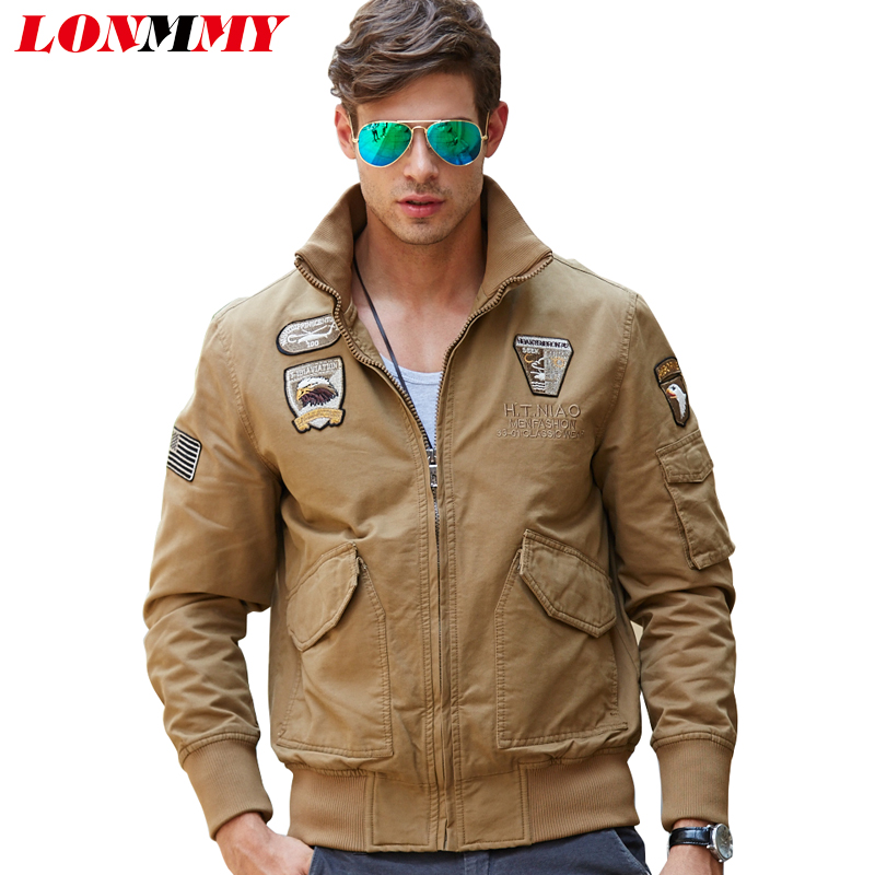 lonmmy 2017 bomber jacket men cotton wool liner thicken winter coat men  military jaceket yrkflyq
