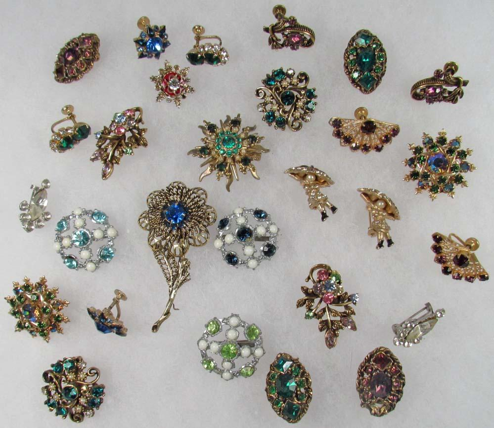 lot of vintage costume jewelry yaulksx