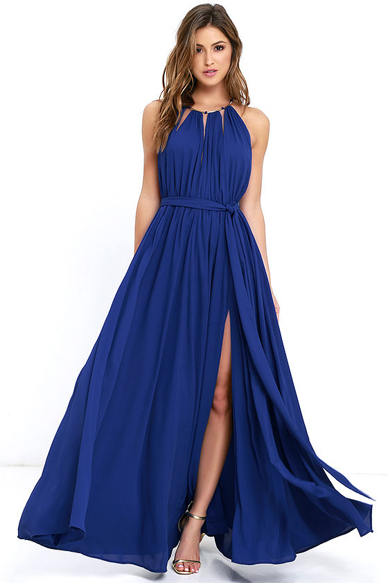 General information about Blue maxi dress