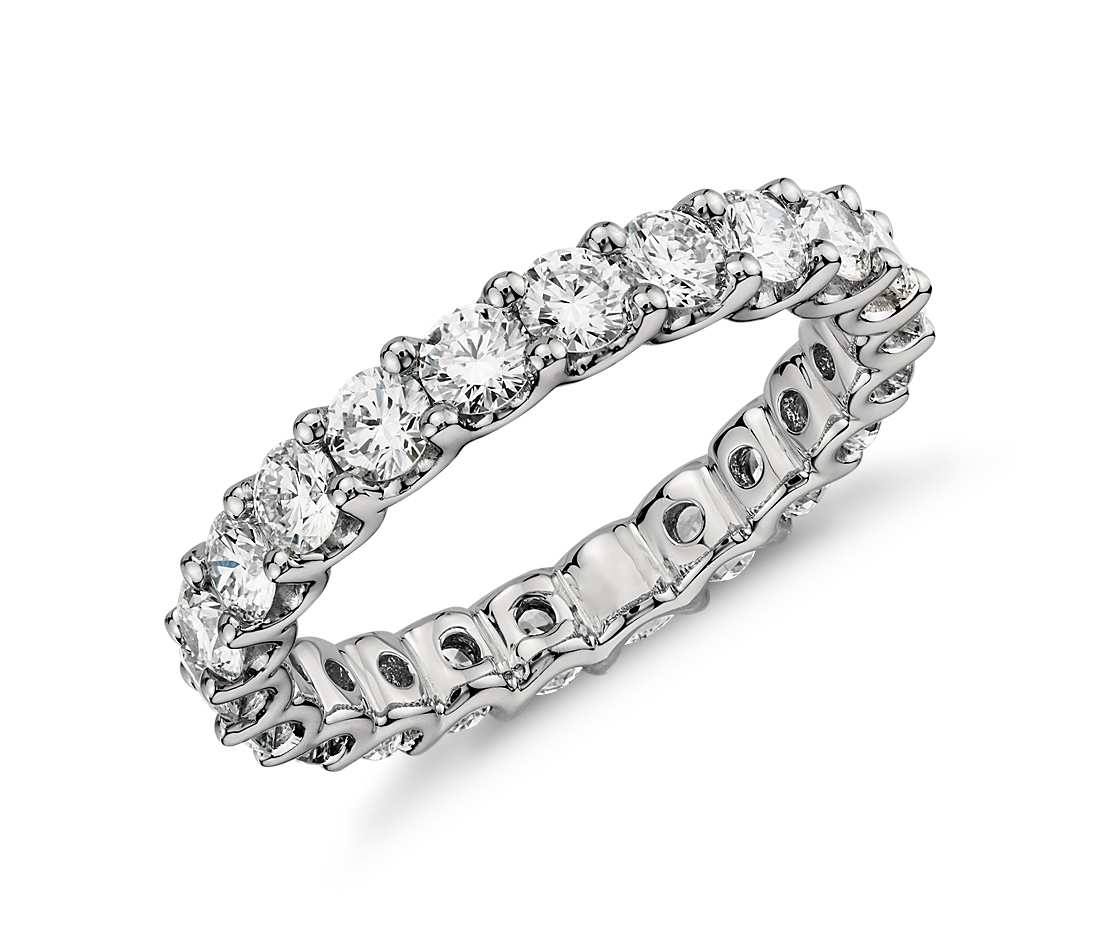 luna diamond eternity ring in platinum (2 ct. tw.) nsqprns