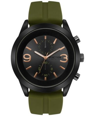 luxury watches for men kenneth cole new york menu0027s chronograph green silicone strap watch 47mm  10031458 cgdfovi