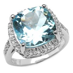malaika sterling silver cushion-cut blue and white topaz ring myaksou