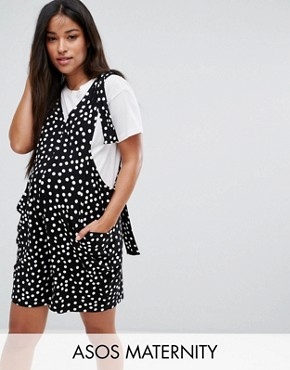 maternity dungarees asos maternity dungaree playsuit with strapping detail in spot print ksbvhua