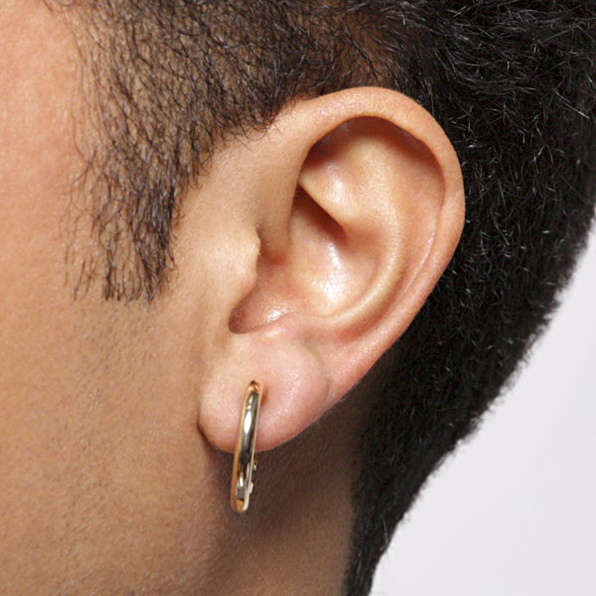 Men Earrings Menu0027s Single Goldtone Hoop Clip On Earring Odwqere