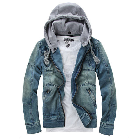 men jackets sale men denim jean jacket with hood - amtifydirect lspqttr