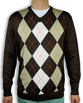 menu0027s argyle sweater sw-265 (large, brown) wqtrdnn