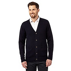 mens cardigans maine new england - navy plain knitted cardigan ftjthql