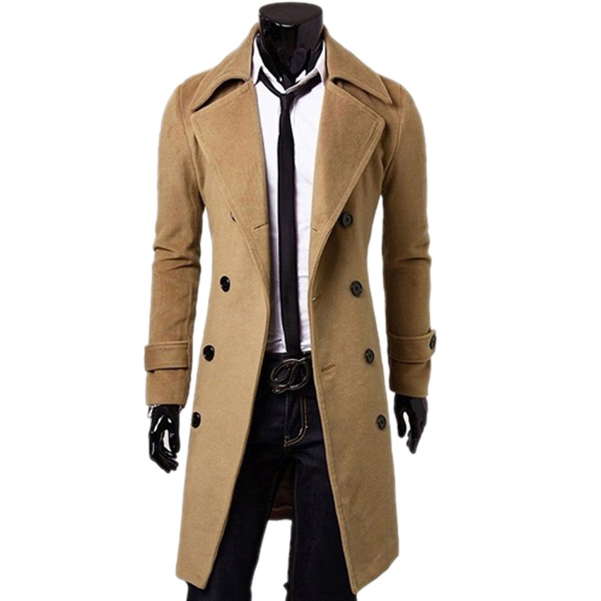 mens coat 2015 new winter wool coat men fashion mens pea coat manteau homme single  breasted ntttolx