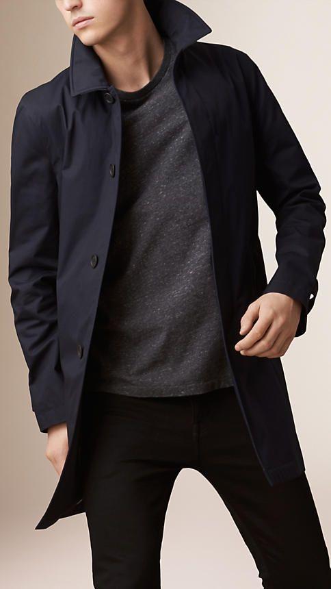 mens coat burberry ink lightweight cotton car coat - a lightweight car coat crafted  in cotton gwycfny