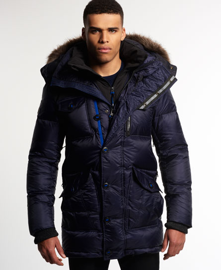 mens parka coats superdry atmosphererix military down parka jacket navy hfipajq