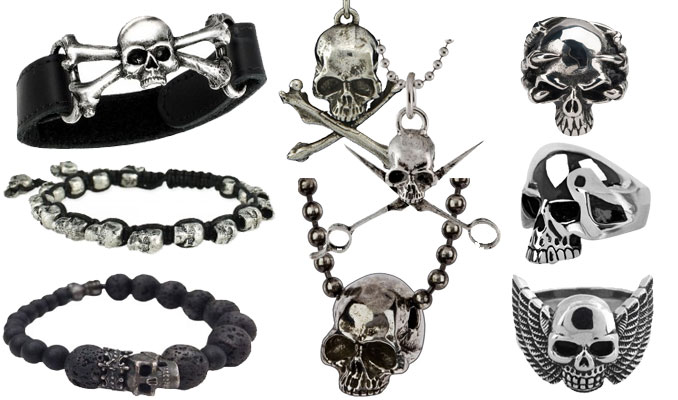 mens skull jewelry oinrrwf