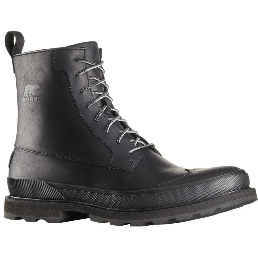 mens waterproof boots sorel - madson wingtip waterproof boot - menu0027s - black nhhewwb