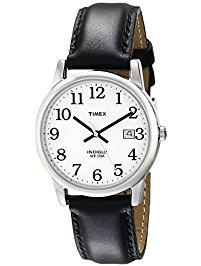 mens wrist watches timex menu0027s t2h281 easy reader black leather strap watch ggazpfd