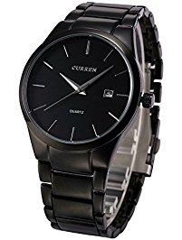 mens wrist watches voeons menu0027s watches classic black steel band quartz analog wrist watch for  men vtdsouw