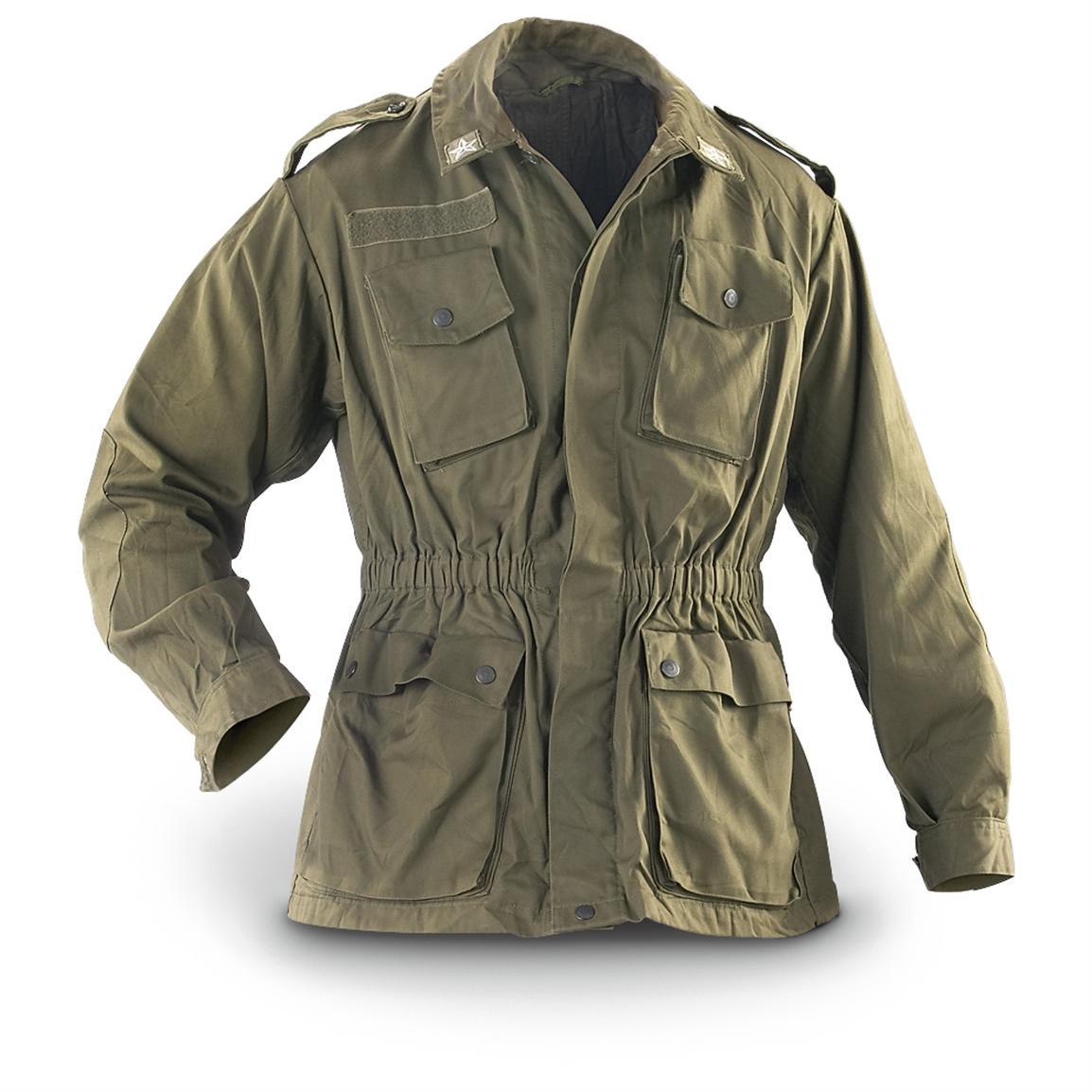 military jacket 2 used italian military combat jackets, olive drab qxstwjs