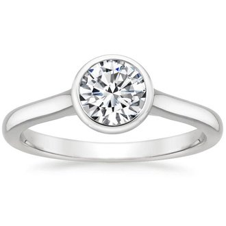 modern engagement rings 18k white gold. luna ring ydmcgdi