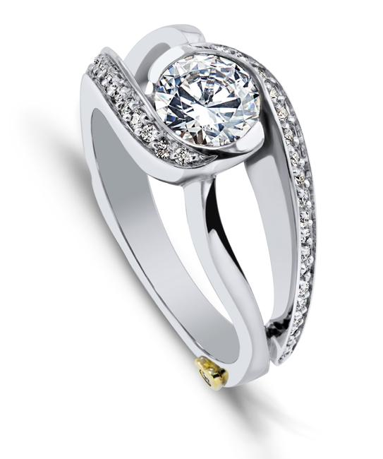 modern engagement rings cascade engagement ring - mark schneider design rfrjpxy