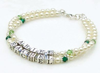 mother bracelets mothers bracelet ~ swarovski® cream pearls u0026 birthstone crystals by aqua  moon keepsakes pyqpjgt