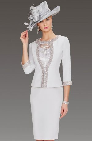 mother of bride outfits short fitted dress with matching jacket. 008740 sarcsoo
