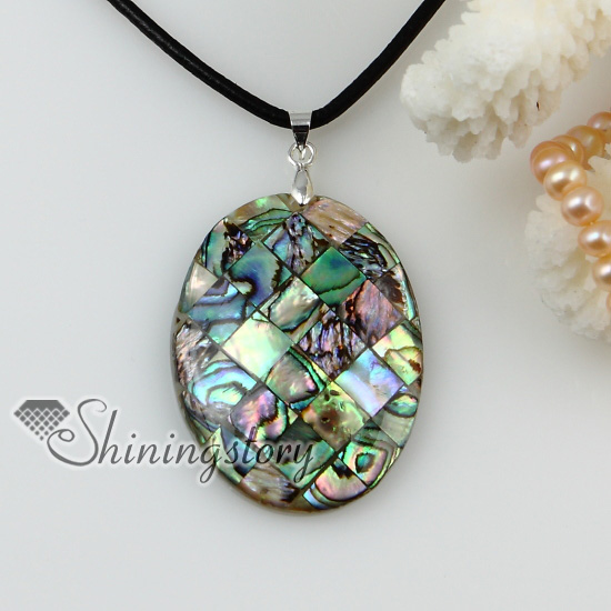 mother of pearl jewelry teardrop patchwork sea water rainbow abalone shell mother of pearl pendants  leather necklaces jewelry btdfhad