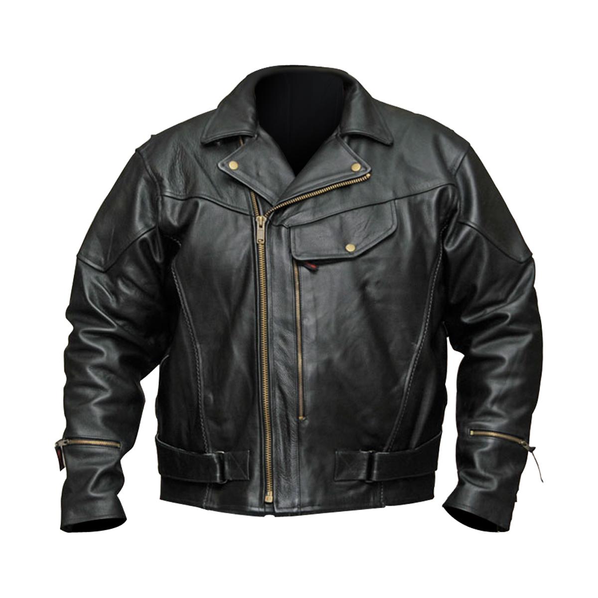 motorcycle leather jacket menu0027s pistol pete-chief premium leather motorcycle jacket ticjkyx