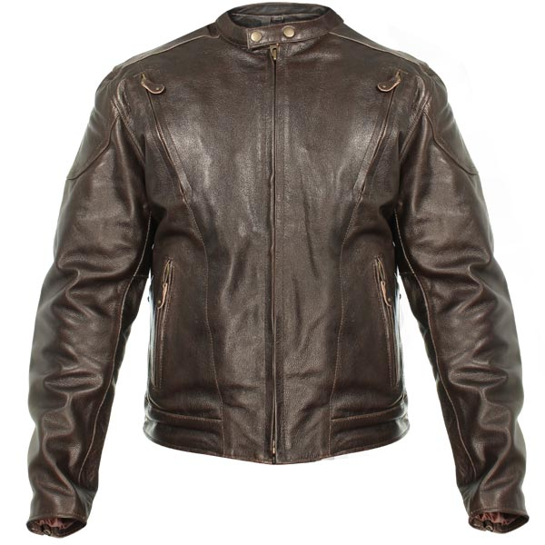 motorcycle leather jacket xelement b7203 menu0027s u0027speedsteru0027 retro brown premium leather motorcycle  jacket with zip out lining xqpqgfj