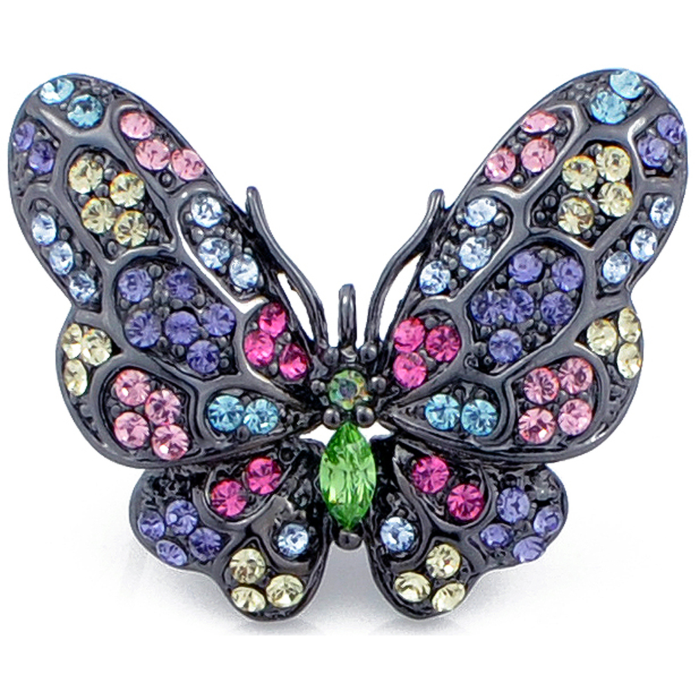 multicolor butterfly brooch pin hkuufrm
