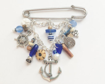 nautical brooch, anchor pin, nautical jewelry, nautical gifts, anchor  jewelry, sailing xowyifg