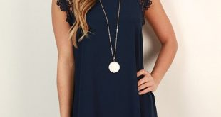 navy dresses love the lace at the top because it breaks up the solid navy color. super eaitnuh