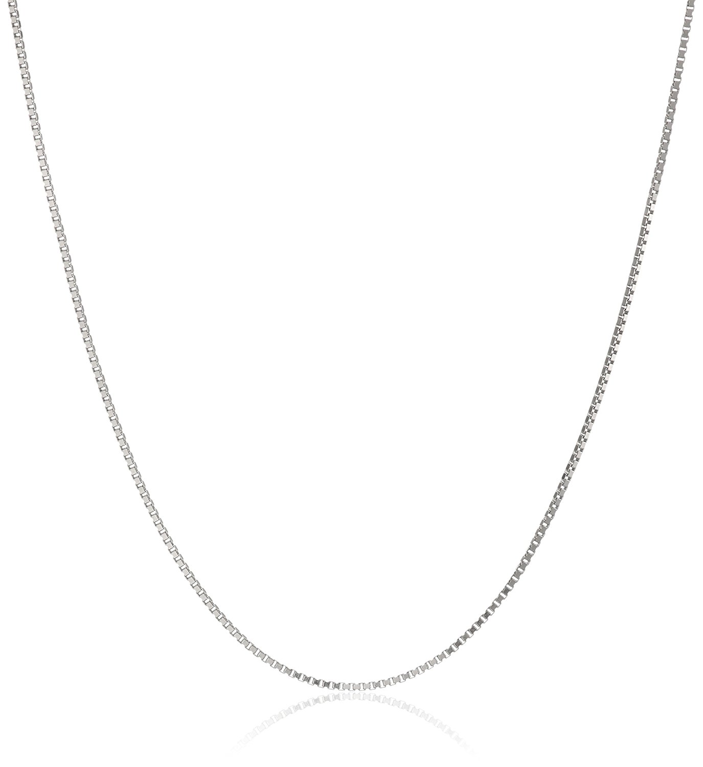 necklace chain amazon.com: 14k white gold solid box chain necklace (.50mm ), 18 sqgmuyd