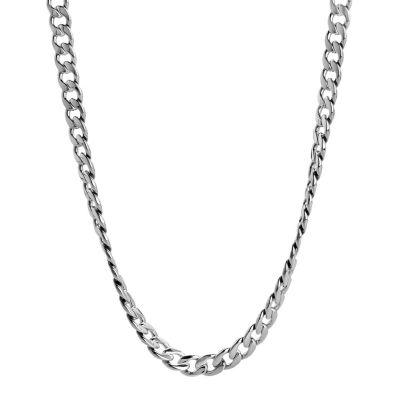 necklaces for men lynx stainless steel curb chain necklace - men avkwoow