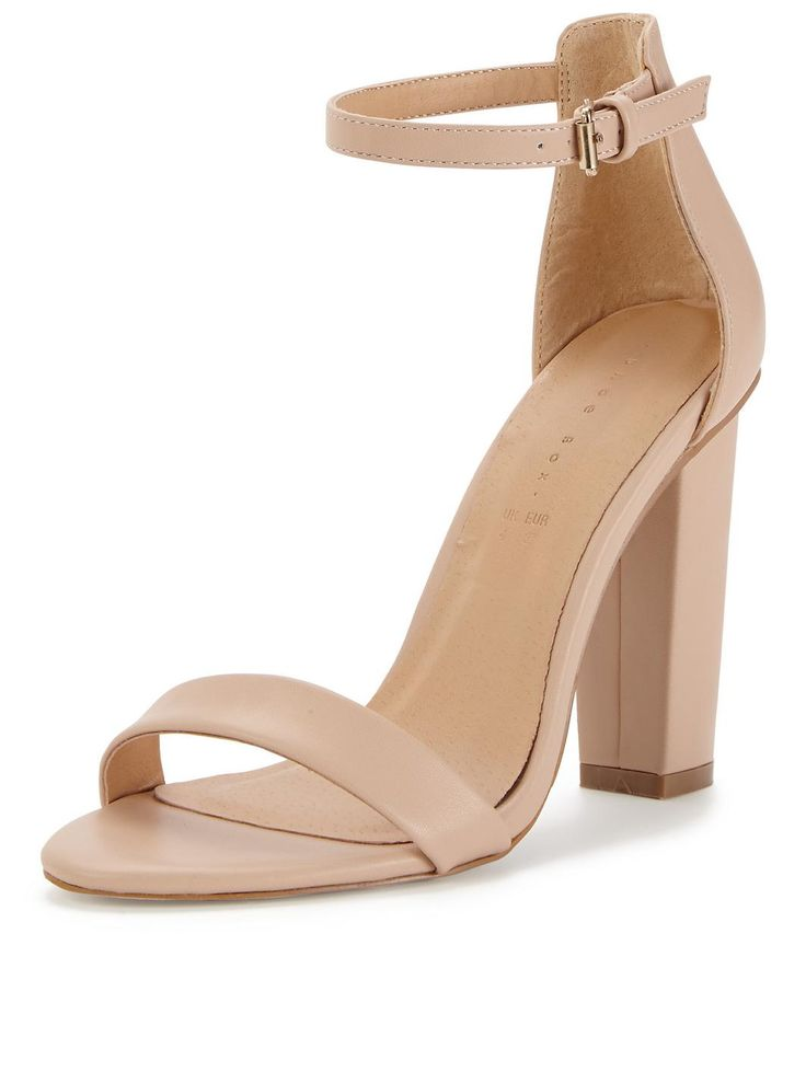 nude color heels daisy high block heeled ankle strap sandals - nude, http://www. wtvsgjc
