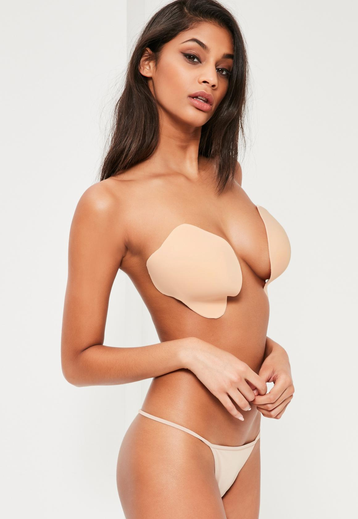 nude strapless illusion invisible bra bsrykkj
