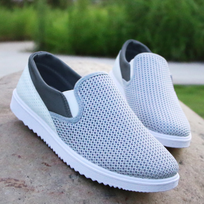 online shop fashion men nylon mesh shoe flat heel beach shoes casual flats  mens qurapjy