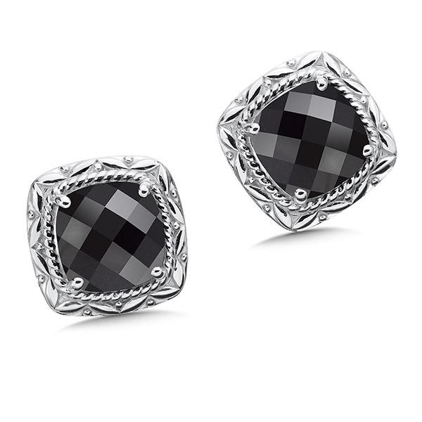 onyx earrings in sterling silver xvsasch
