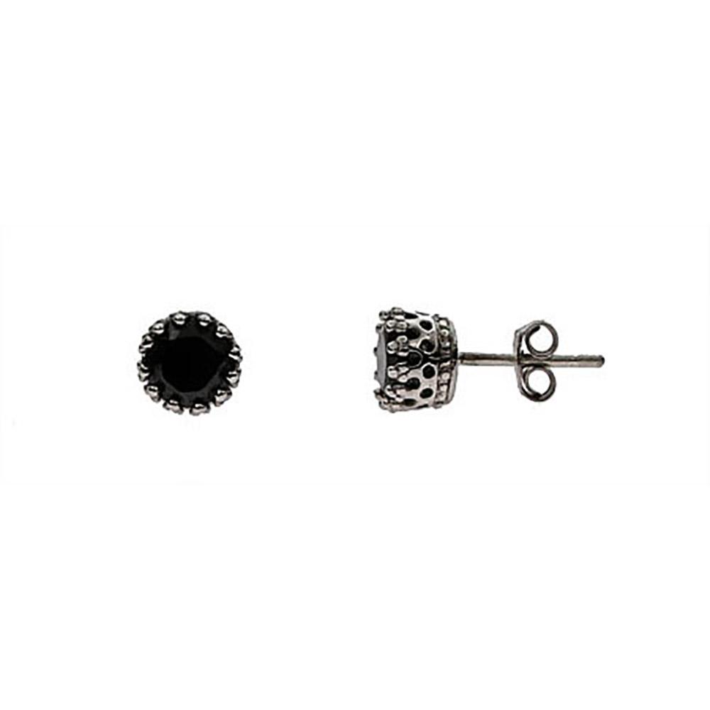 onyx earrings sterling silver black onyx crown set stud earrings ddrdzbp
