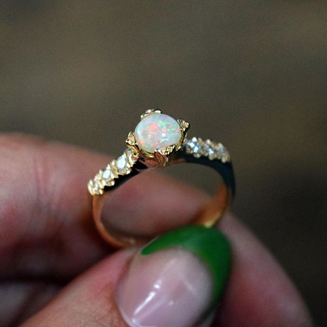 opal promise rings ... 🎨💄 @mua_dasena1876 movie night 🎥 u0026qu...instagram photo. opal wedding ringsopal  engagement ... orjmmql
